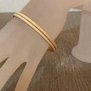 2 J Crew enamel and gold bangle bracelets